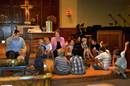 The Rev. Kathy Hartgraves instructs the children during worship at First United Methodist Church in Mitchell, S.D. Photo courtesy of the Dakotas Conference.