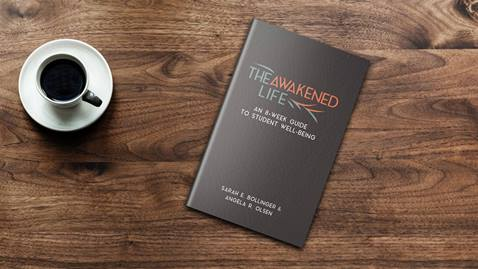 The Awakened Life is an eight-week small group curriculum designed to equip chaplains, collegiate ministers and spiritual leaders in helping college students navigate emotional disturbance, build resiliency and learn psychosocial skills.  Mockup courtesy of Bookinmotion.com.
